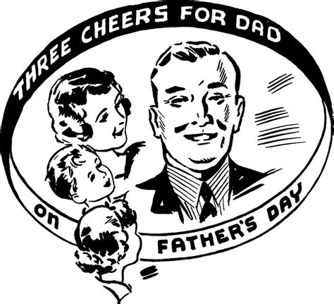 Free vintage fathers day greeting cards and clipart jpg 1800x1638